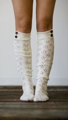 c70928719cf6 Knitted boot socks. Love the buttons and pattern. Looks like they re not