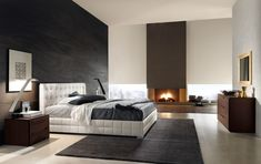 Master bedroom with fireplace (5) | Decorative Bedroom