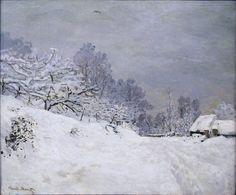 (via All sizes | 1867 Claude Monet Strada di fronte alla fattoria S.Simeon,inverno(d'Orsay) | Flickr - Photo Sharing!)