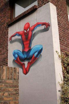 Spider-Man graffiti.