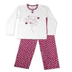 Pijama niña algodón peinado.