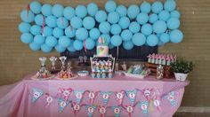 Beach Birthday Party Girl Dessert Table
