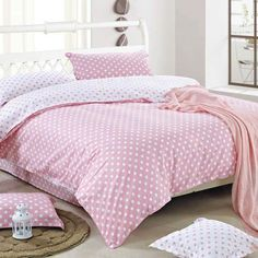 $90.65 pink dotted bedding - http://zzkko.com/book/shopping?note=16408