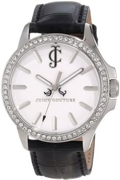 Juicy Couture Ladies White Dial Leather Strap Watch 1900972