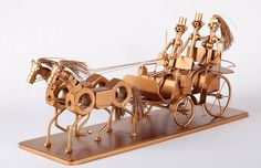 Chariot Unique Metal Diorama Metal Art by MetalDiorama on Etsy