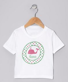 Pink Whale Personalized Tee - Infant, Toddler & Kids #zulily #zulilyfinds                17.99