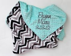 CHEVRON MINKY PERSONALIZED Baby Stroller Blanket with Your Choice of Colors by firstcrushdesigns on Etsy https://www.etsy.com/listing/128008136/chevron-minky-personalized-baby-stroller