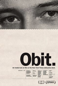 Festival poster for OBIT (Vanessa Gould, USA, 2016)