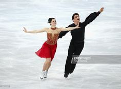 Tessa Virtue and Scott Moir of Canada competes in the Team Ice Dance Free Dance during day 2 of the Sochi 2014 Winter Olympics at Iceberg Skating Palace on February 9, 2014 in Sochi, Russia.