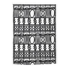 REVVIVA Tissu au mètre, blanc/noir Ikea
