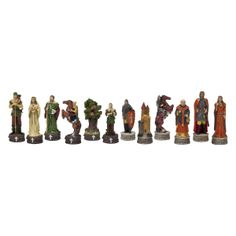 Robin Hood Hand-Painted Chessmen - Chess Pieces at Hayneedle