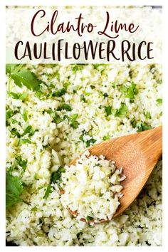Mexican Side Dishes, Pasta Side Dishes, Low Carb Side Dishes, Side Dish Recipes, Main Dishes, Dinner Recipes, Cilantro Lime Cauliflower Rice, Cauliflower Risotto, Frozen Cauliflower Rice