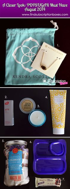 The POPSUGAR Must Have August 2014 Box had a great mix very classy items – from the beautiful necklace to the amazing soy candle. Read our full August 2014 POPSUGAR Must Have Box review and thru 12/31/14, enter to win your own August POPSUGAR Box! http://www.findsubscriptionboxes.com/a-closer-look/august-2014-popsugar-must-have-box-review-122014/