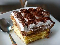 Nutelový zákusok s mascarpone krémom - Mňamky-Recepty. Nutella, Tiramisu, Sweets, Ethnic Recipes, Food, Gardening, Basket, Mascarpone, Sweet Pastries