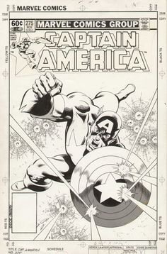 Captain America 275 cover by Mike Zeck and John Beatty (Marvel)