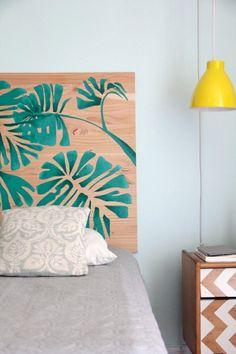 Handmade Home Decor Home Bedroom Design, Interior Design Living Room, Bedroom Decor, Recycled Furniture, Painted Furniture, Handmade Home Decor, Diy Home Decor, Handmade Headboards, Cama Ikea