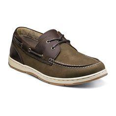 Nunn Bush Schooner Men's Boat Shoes, Size: medium (11.5), Brown