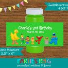 Sesame Street Elmo Bubble Labels Birthday Party Favors Personalized