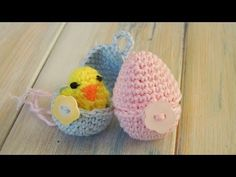 ▶ (crochet - part 2 of 2) How To Crochet a Mini Chick & Egg - Yarn Scrap Friday - YouTube