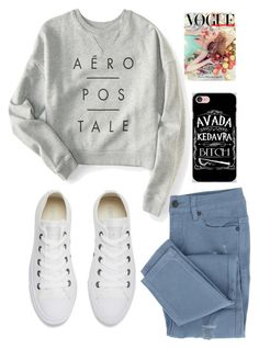 """""""OUTFIT"""" by ysabel-al on Polyvore featuring moda, Aéropostale, Converse y Samsung"""