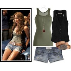 Ariel from Footloose (make the shorts a little longer and i have my perfect summer outfit) summer clothes Designer Clothes, Shoes & Bags for Women Cute Summer Outfits, Spring Outfits, Casual Outfits, Fashion Outfits, Womens Fashion, Summer Shorts, Summer Clothes, Summer Fun, Princess Inspired Outfits