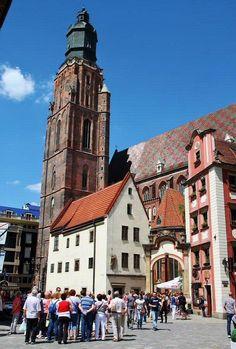 Plaza del Mercado de Wroclaw en Polonia