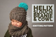 Knit Helix Slouch Beanie & Cowl PATTERN by HandmadeByPhanessa