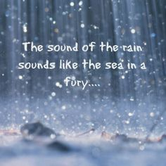 The sound of the rain....
