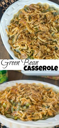 Green Bean Casserole - my favorite holiday side dish is this green bean casserole from scratch! No canned soup and absolutely delicious!