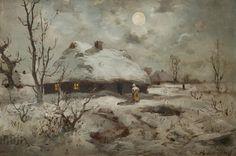 Seweryn Bieszczad, Pejzaż zimowy, ok. 1890 r. Sukiennice