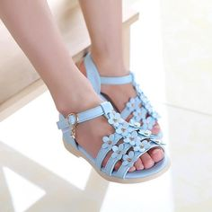 Strong-Willed Toddler Shoes Popular Baby Girls Summer Bow Hook Striped Sandals Anti-slip Soft Casual Shoes 0-18m Yu Outstanding Features Children's Shoes