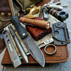 Gary Stewart custom slipjoint, Tibolt pen, Zach Wood Pryba… | Flickr