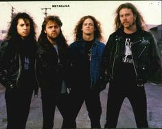 Kirk Hammet, Lars Ulrich, Jason Newsted, and the lovely James Hetfield