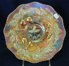 Fenton's Three Fruits 12 sided plate for auction.