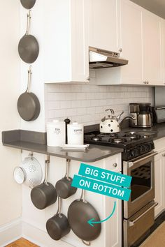 20 Sneaky Storage Tricks for a Tiny Kitchen Storage Tricks for a Tiny Kitchen - Small Kitchen Organization,