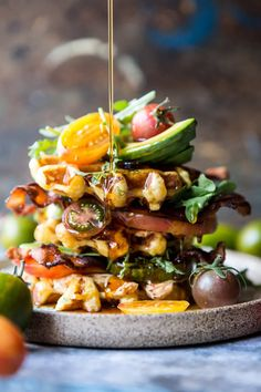 Cheddar Cornbread Waffle BLT with Chipotle Butter - game changing BLT! From halfbakedharvest.com