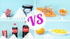 ¿Sabes cuánta azúcar hay en una Coca-Cola vs un puñado de fresas? O en un rollo de canela Cinnabon vs unas zanahorias? ¡Descúbrelo ahora! #fitnessTip #nutrición #dieta