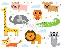 Animal Cliparts // Animal Illustration // Animal by Pixejoo, $5.00