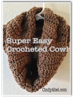 Super Easy Crocheted Cowl Pattern — CindyAbel.com