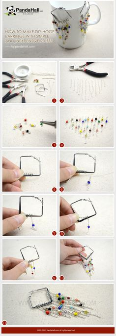 To get started making a pair of diy hoop earrings with just a few basic supplies and an assortment of leftover beads after other jewelry making projects. It is entirely a super-easy and high-customized accessory.