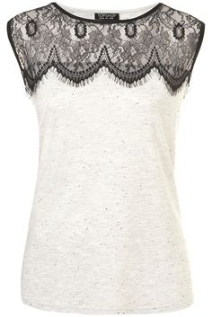 Still obsessed with lace. Eyelash lace tee.