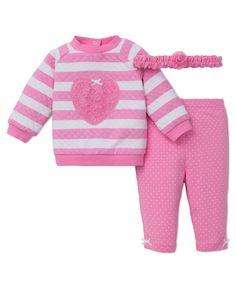 Little Me - Pink Heart 3-Piece Sweatshirt Legging Set, $15.00 (http://www.littleme.com/pink-heart-3-piece-sweatshirt-legging-set/)