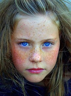 Blonde girl with blue eyes from Afghanistan