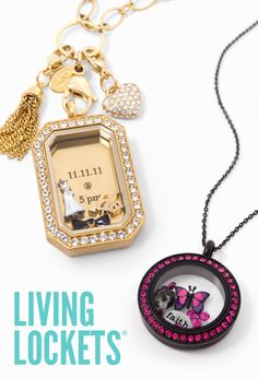 Loving these beautiful lockets that tell a story