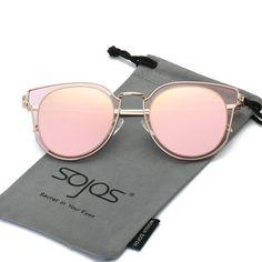 70459abb9637 Fashion Polarized Sunglasses UV Mirrored Lens Oversize Metal Frame SJ1057
