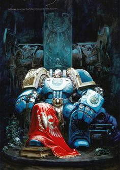Marneus Calgar Chapter Master of the Space Marine Ultramarines Chapter.