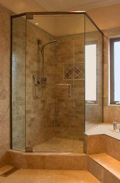 4 Daring Cool Tips: Camper Shower Remodel mobile home shower remodel.Corner Shower Remodeling Master Bath shower remodel on a budget tile.Fiberglass Shower Remodel How To Remove. Bathroom Renos, Bathroom Renovations, Home Remodeling, Bathroom Ideas, Master Bathroom, Bath Ideas, Shower Ideas, Master Shower, Bathroom Cabinets
