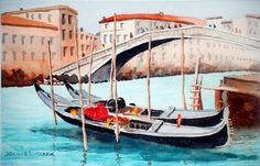 How to paint gondolas. Catch this 2 hour live class replay for only $14. Learn to paint these majestic boats and buildings. This is a step by step lesson that takes your from start to finish. Click on the image to book this watercolor class. art, painting, boat, water, buildings, city, lessons,