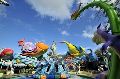 One Fish Two Fish Red Fish Blue Fish ride inside Seuss Landing island at Islands of Adventure inside Universal Studios Orlando Florida