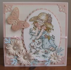 another older card created with Sarah Kay stamp 'Isobelle and Cocoa'
